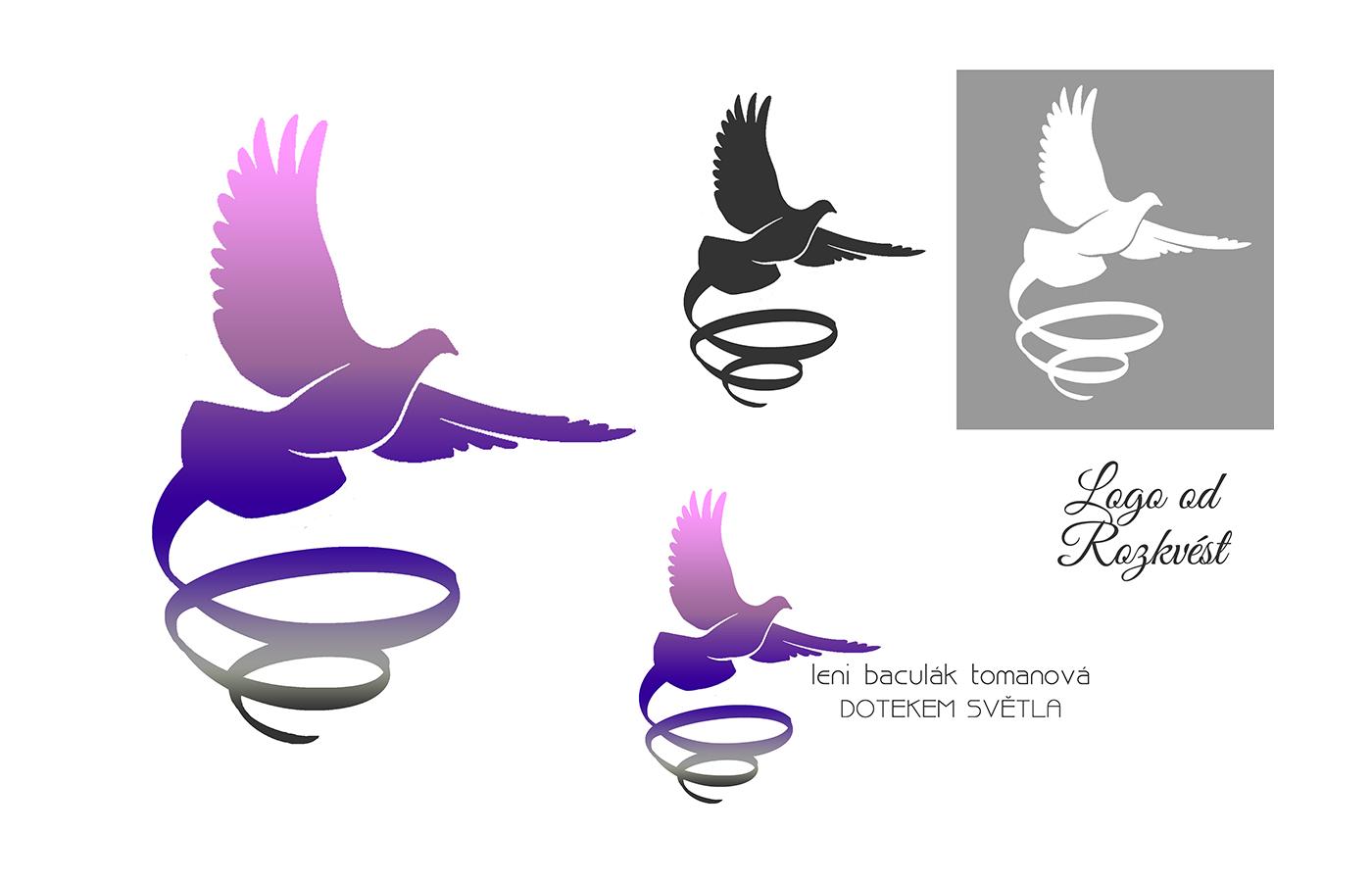 Logo pro Leni - holubice